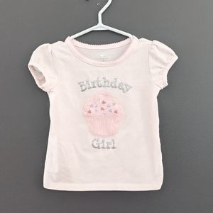 First Birthday light pink cupcake shirt